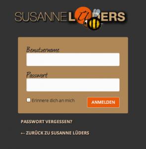 WordPress Login Seite Beispiel