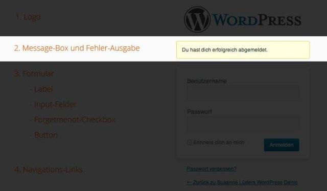 Message- und Error-Box