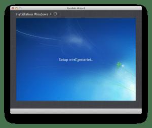 Windows-Installation mit Parallels