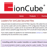 ionCube Loader Webseite